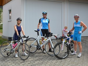 Triathleten am Ferienhof Lehner